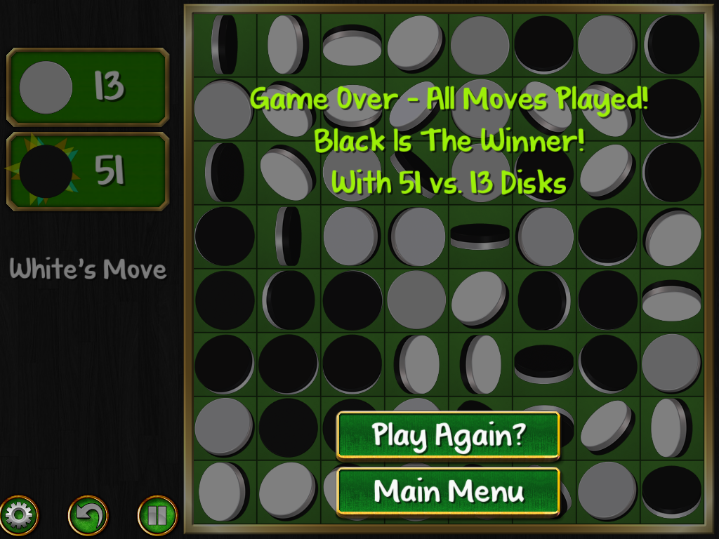 Reversi Magic - Game Over